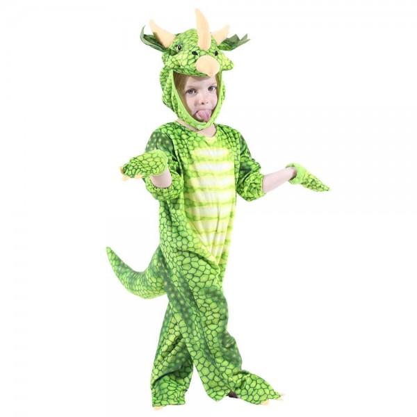 Grün Triceratops Dinosaurier Kostüm Dinosaurier Overall Halloween Weihnachten Kleid oben Geschenk zum Kind