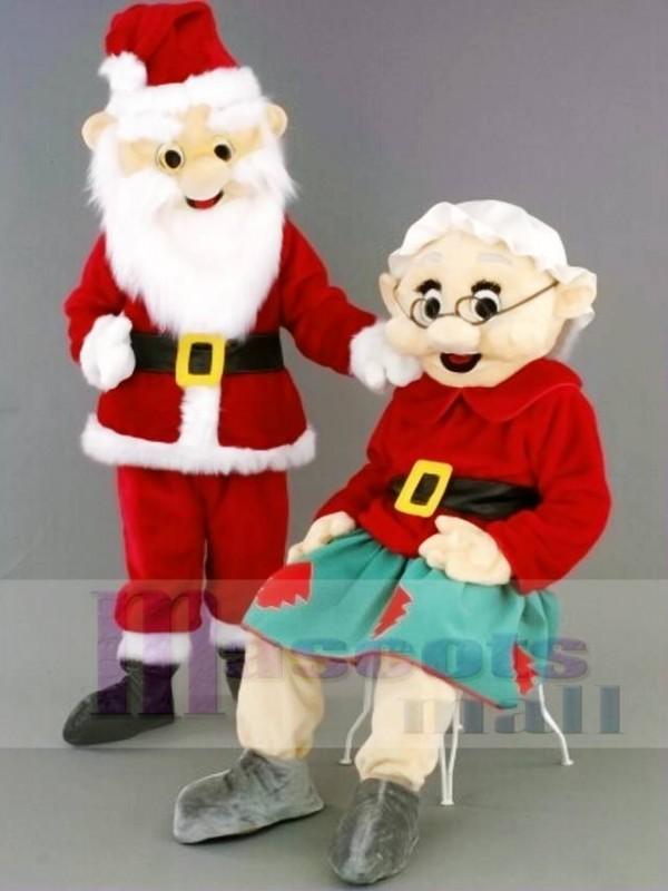 Herr Weihnachtsmann / Frau Santa Claus Maskottchen Kostüme Menschen