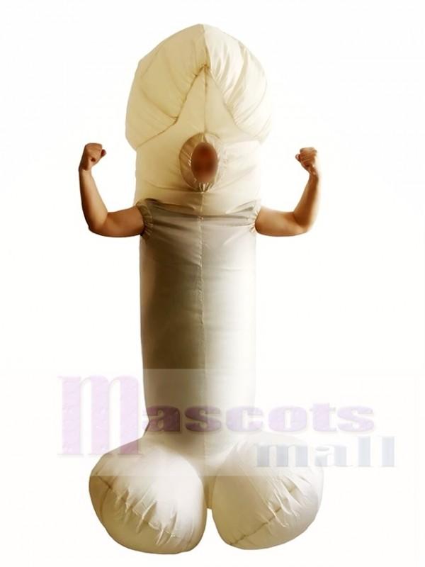 Weiß Willy Cock Dick Sexy Penis aufblasbar Halloween Weihnachten Kostüme für Erwachsene