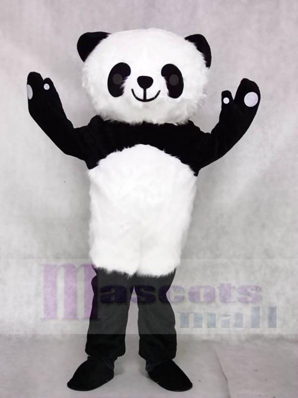 Haariger Panda Maskottchen Kostüme Tier