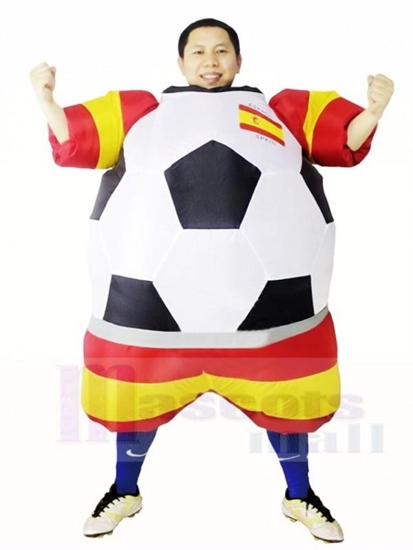 Weltmeisterschaft Spanien Fussball Fussballer Aufblasbare Halloween Weihnachts Kostume Fur Erwachsene
