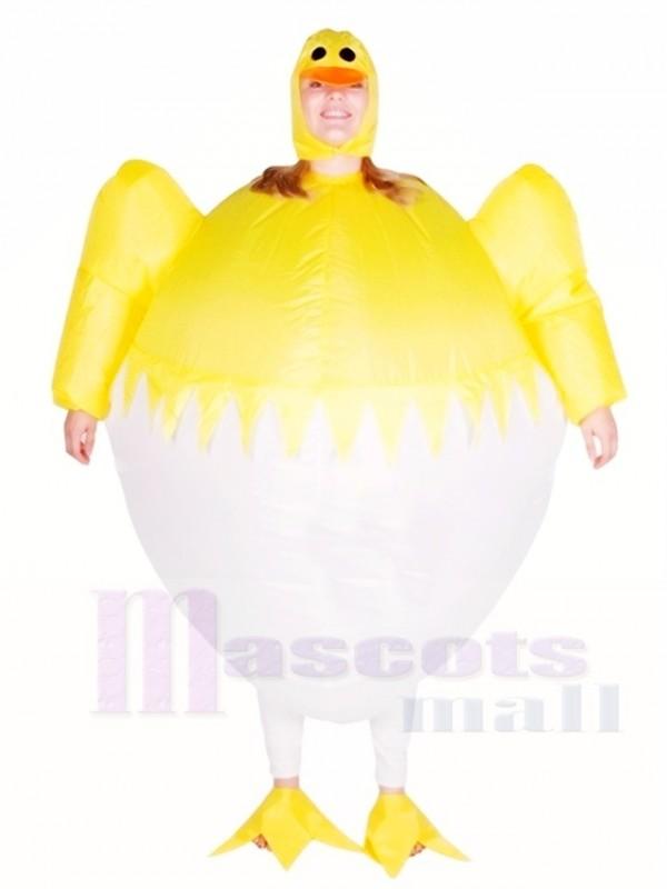Gelbes Huhn Ei Aufblasbares Halloween Weihnachten Kostüme für Erwachsene