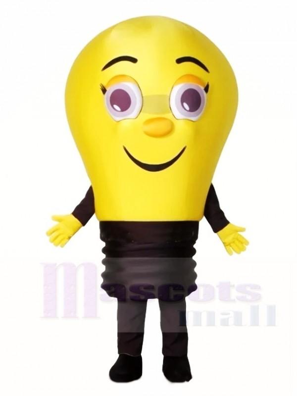 Gelbe Lampe Glühbirne Maskottchen Kostüme