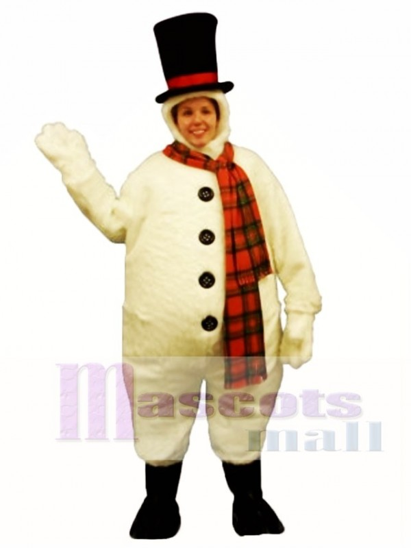 schneemann mit kapuze maskottchen kost m weihnachten xmas. Black Bedroom Furniture Sets. Home Design Ideas