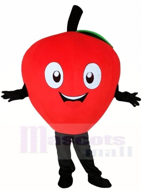 roter Apfel Maskottchen Kostüme Pflanze Obst