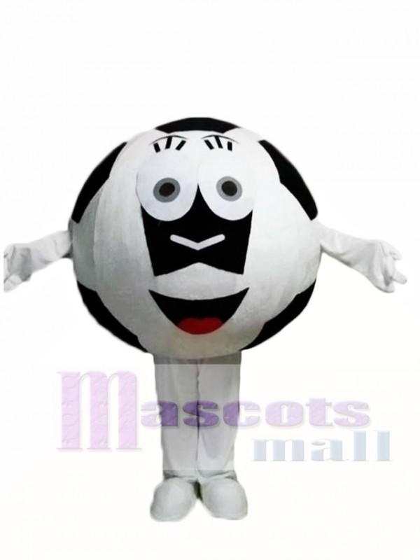 Schwarze Ball Fussball Maskottchen Kostume