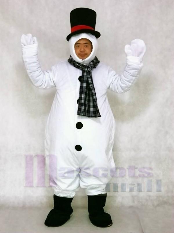 Schneemann mit Kapuze Hut und Schal Maskottchen Kostüme Weihnachten