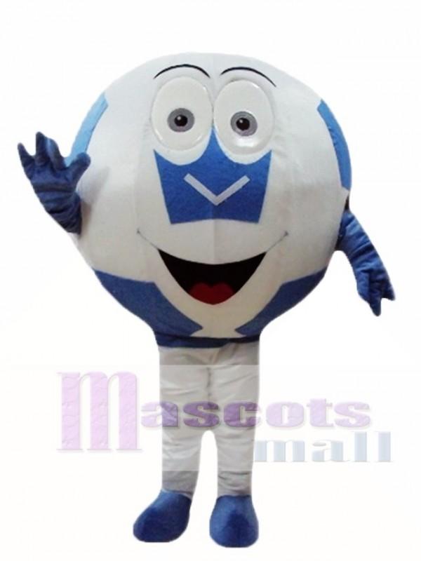 Blaue Ball Fussball Maskottchen Kostume