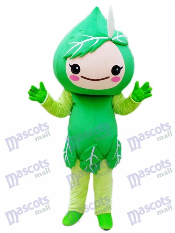Grüne Blätter Maskottchen Kostüm Pflanze
