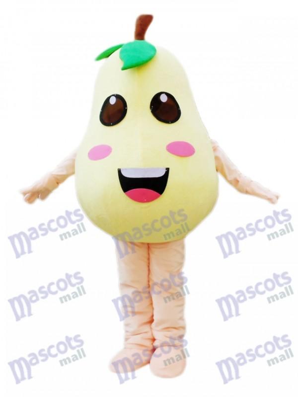 Birne Maskottchen Kostüm Pflanzenfrucht