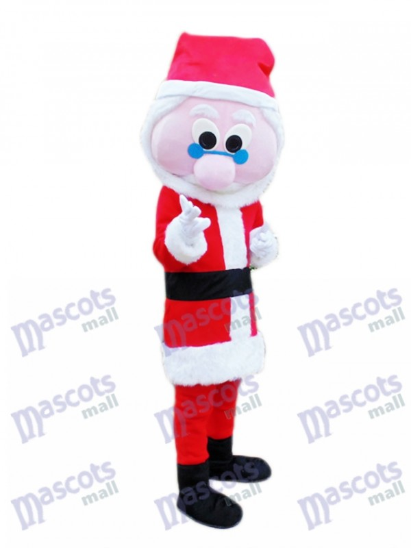 Blaue Brille Weihnachtsmann Weihnachtsmann Maskottchen Kostüm