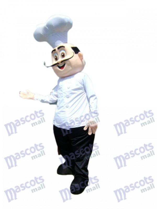 Restaurant Förderung Chef Koch Maskottchen Kostüm Karikatur