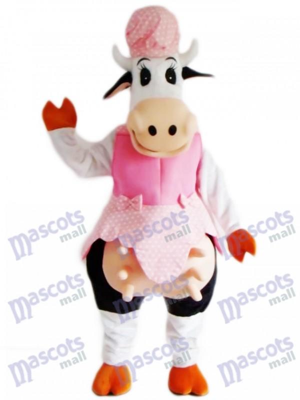 Kuh im rosa Kleid Maskottchen Kostüm Tier