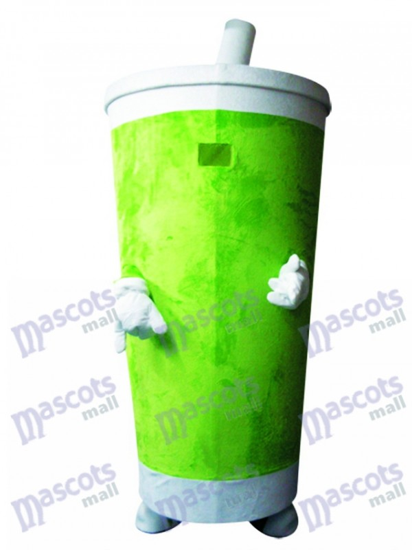 Green Sippy Cup Getränke Tumbler Maskottchen Kostüm Lebensmittel