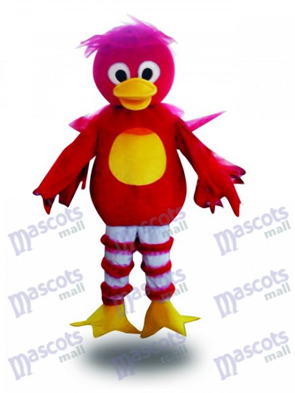 Red Duck Cartoon Maskottchen Erwachsene Kostüm Tier