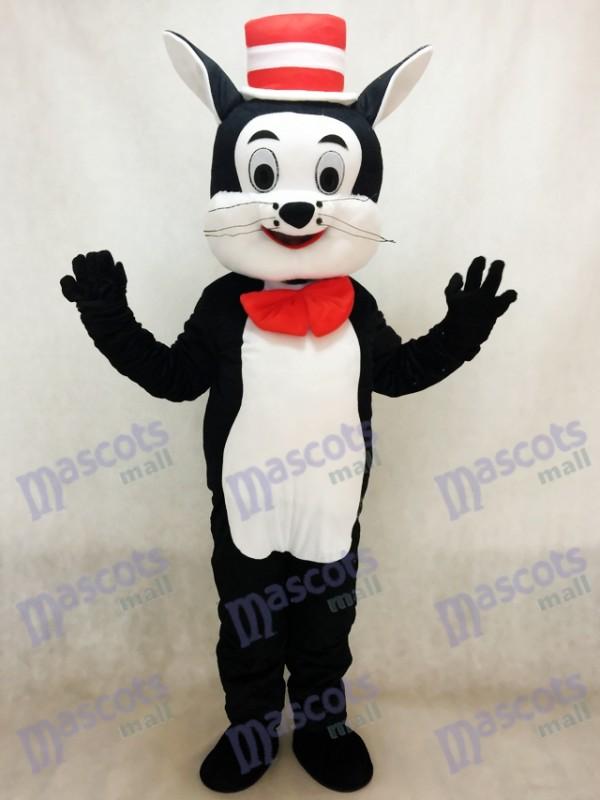 Katze im Hut Maskottchen Kostüm Karikatur Tier