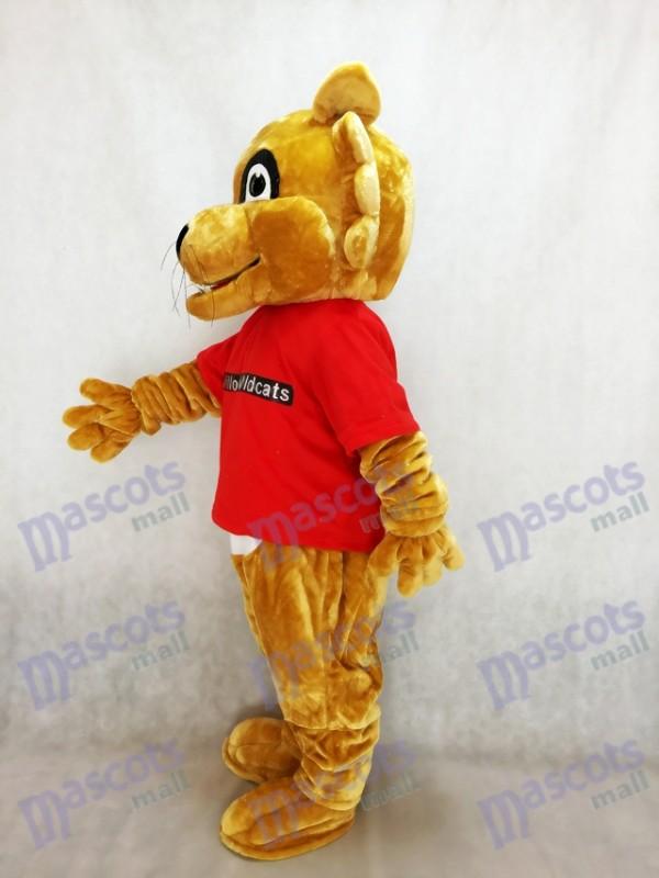 Puma Pfoten im roten Hemd Maskottchen Kostüme