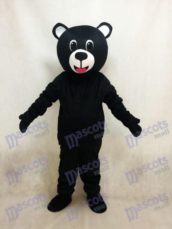 Neues schwarzes glückliches Bärn Maskottchen Kostüm