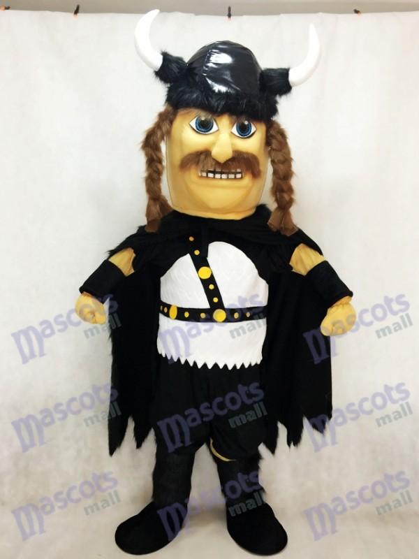 New Odin Viking Plüsch Maskottchen Kostüm mit schwarzem Umhang