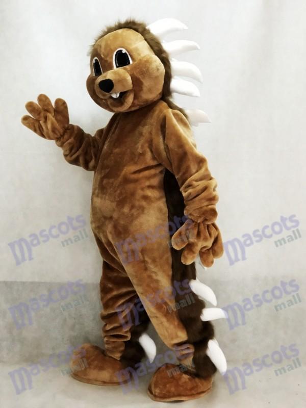 Brown Stachelschwein Maskottchen Kostüm Tier
