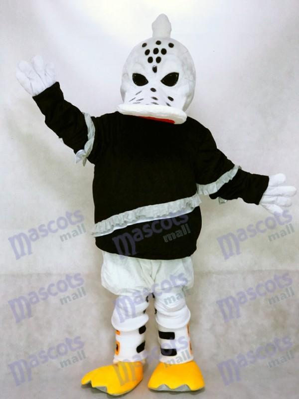 Heftigen wilden Flügel Ente Maskottchen Kostüm Eishockeyspieler Tier