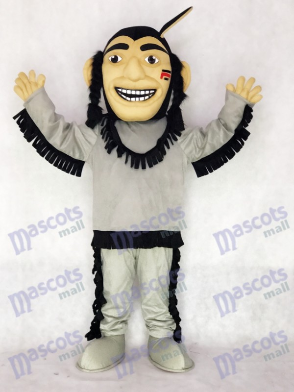 Glückliches tapferes indisches Maskottchen Kostüm Leute