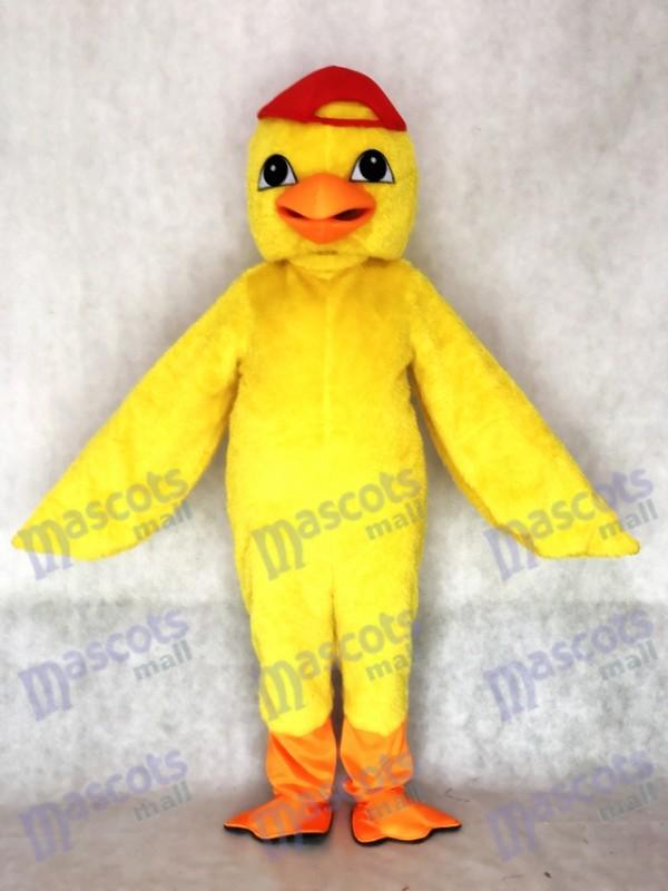 Erwachsene Niedliches gelbes Küken Maskottchen Kostüm mit Red Hat Tier
