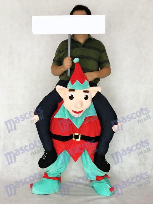 Elf tragen mich Piggy zurück Fahrt auf Neuheit Maskottchen Kostüm
