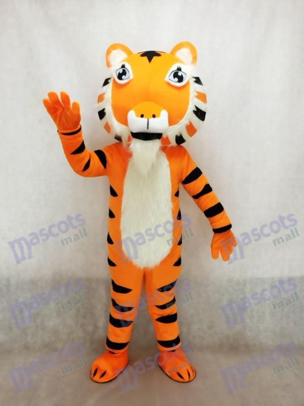 Nettes gelbes Indien Tiger Maskottchen Kostüm