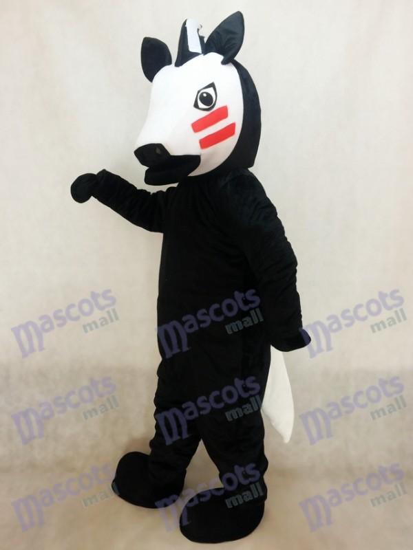 Schwarz Trojan Horse Maskottchen Kostüm