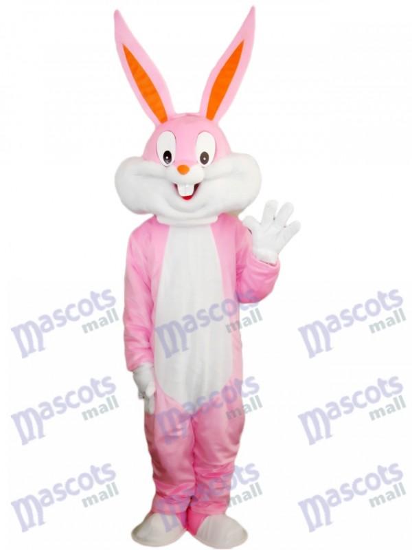 Rosa Osterhase Bug Kaninchen Maskottchen Kostüm Cartoon