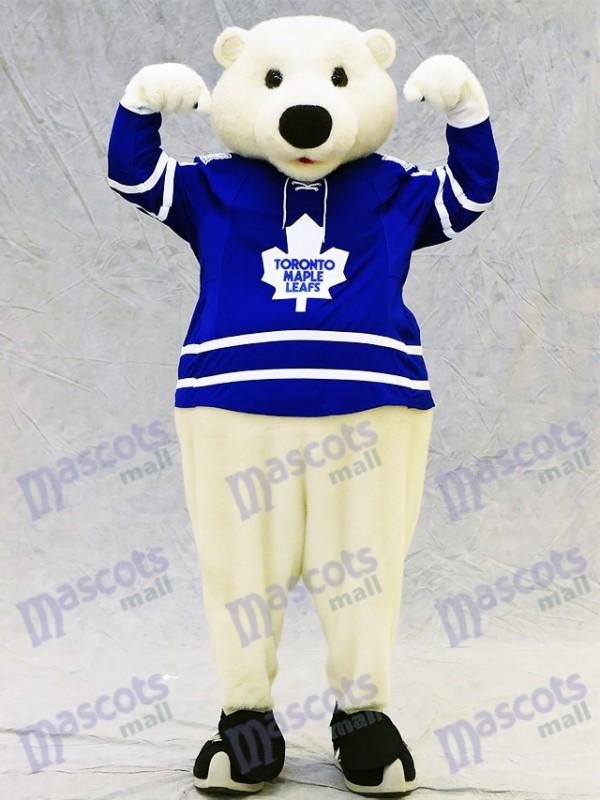 Carlton der Bär von Toronto Maple Leafs Eisbär Maskottchen Kostüm Tier