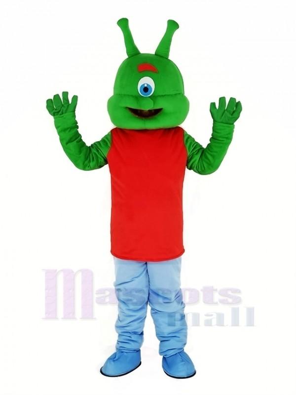 Grün Außerirdischer Maskottchen Kostüm Karikatur