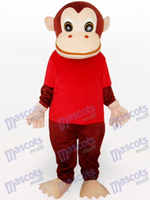 Roten Gorilla Tiermaskottchen lustiges Kostüm
