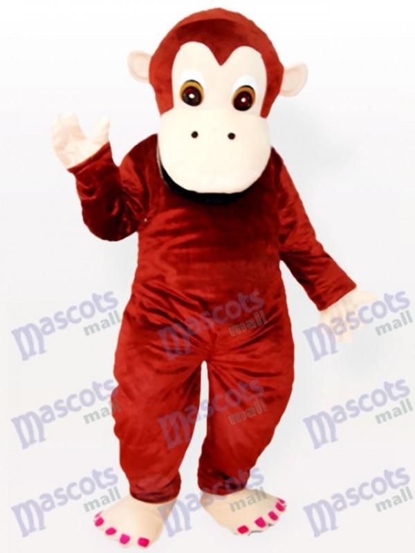 Reizendes Schimpanse Tiermaskottchen Kostüm