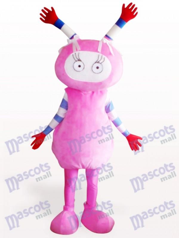 Rosa Fee Partei Adult Maskottchen Kostüm für Erwachsene