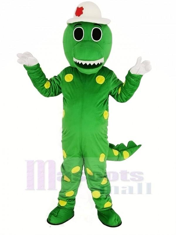 Grün Dorothy Dinosaurier mit Hut Maskottchen Kostüm Tier