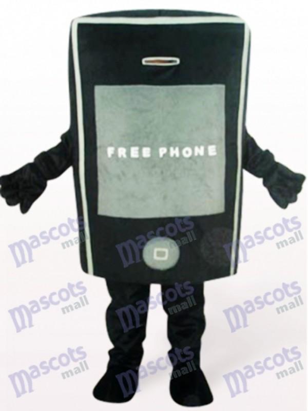 Schwarzes Telefon für Förderung erwachsenes Maskottchen Kostüm
