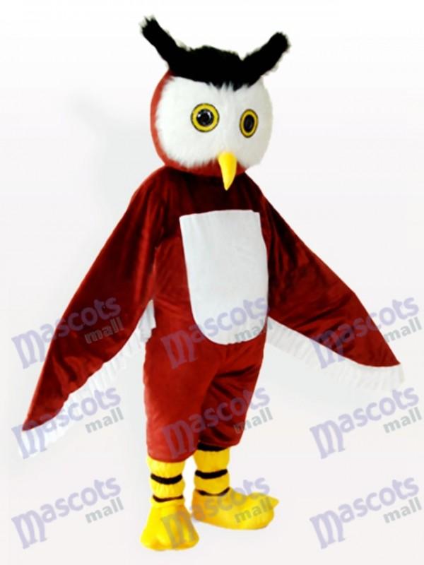 Braunen Owl Tier Maskottchen Kostüm für Erwachsene