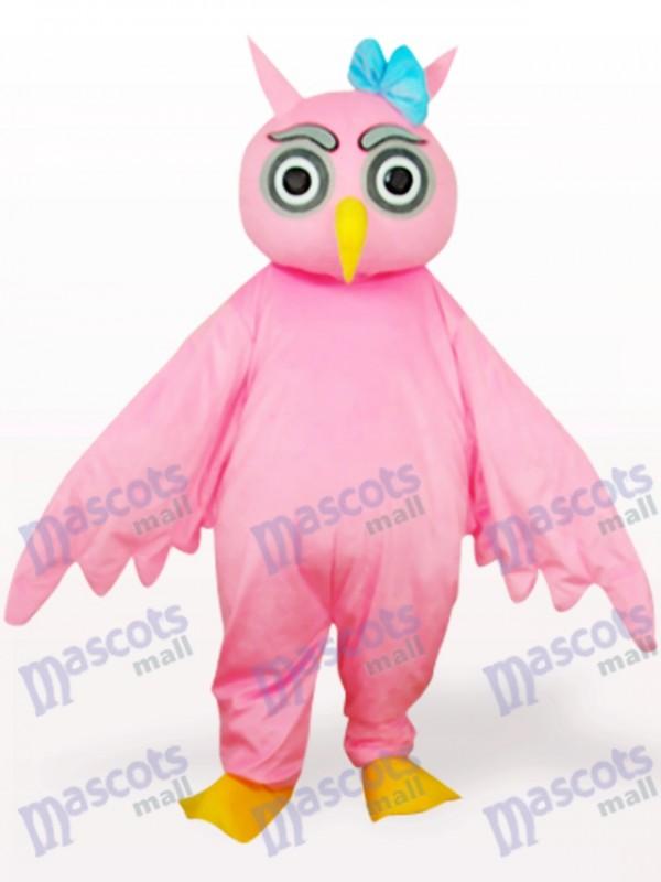 Rosa Eule Tier Maskottchen Kostüm für Erwachsene