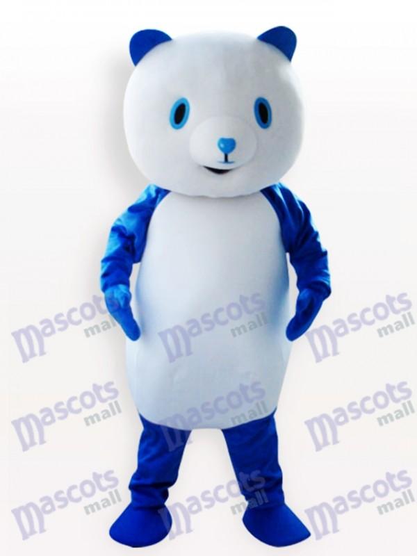 Blaues Panda Tier Maskottchen Kostüm