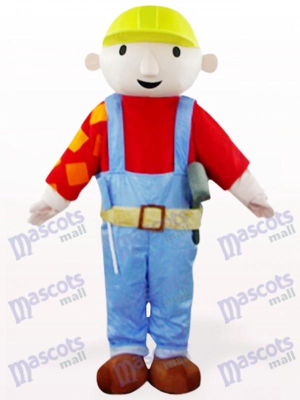 Roter Wartungsarbeiter Bab Cartoon Maskottchen Kostüm