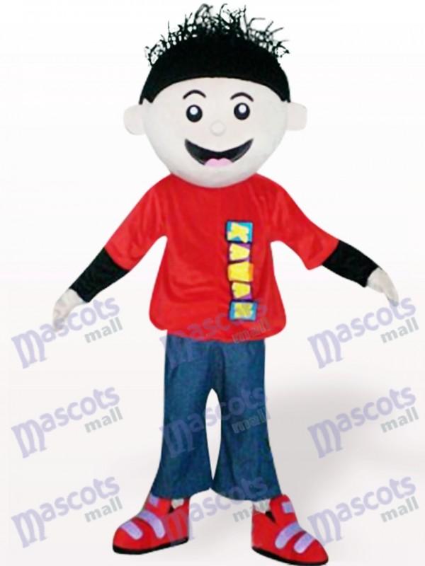 Rot Junge Cartoon Maskottchen Kostüm für Erwachsene