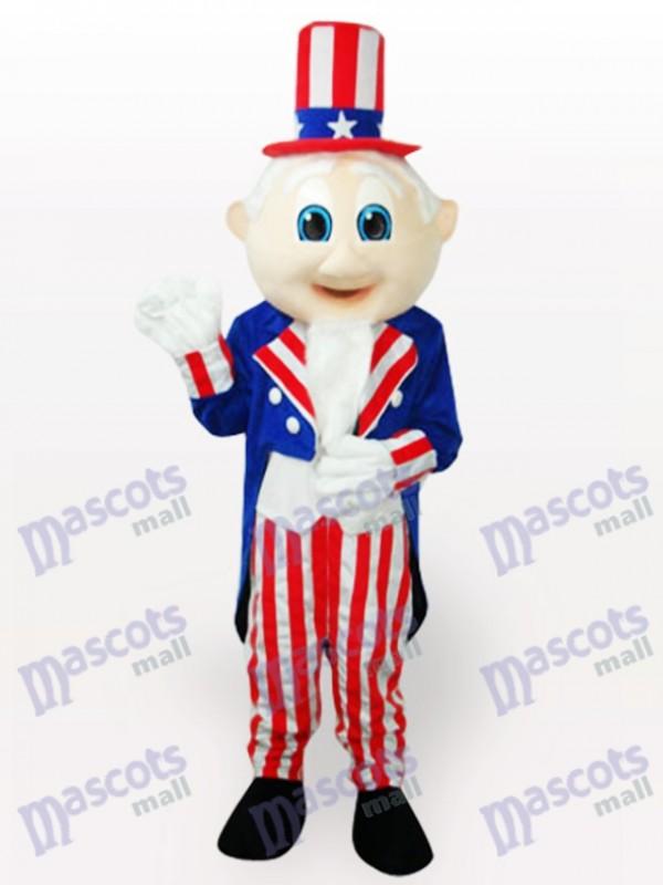 Uncle Sam Cartoon Maskottchen Kostüm für Erwachsene