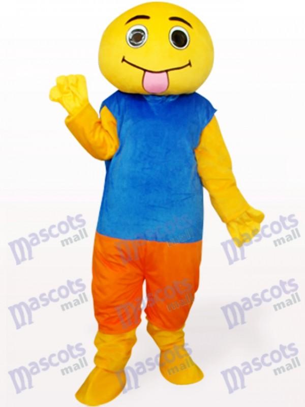 Braunes und blaues Puppen-Maskottchen-Kostüm für Erwachsene