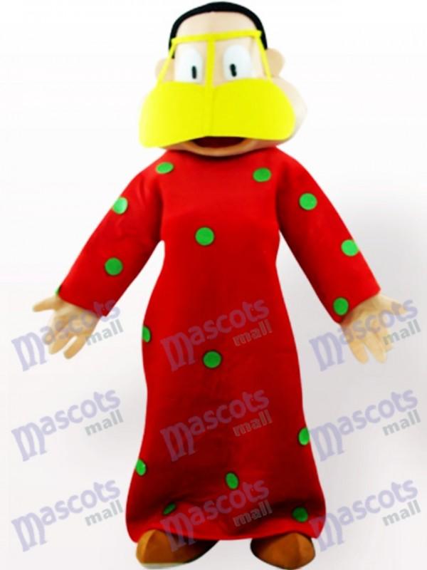 Fette Frau in roter Kleidung Cartoon Adult Maskottchen Kostüm