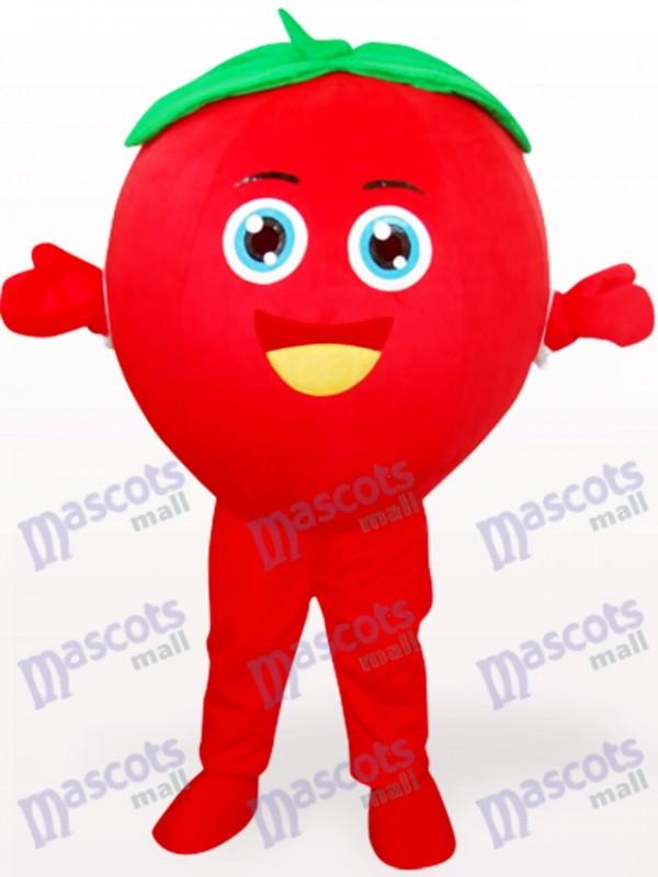 Lächelndes Tomate Frucht erwachsenes Maskottchen Kostüm