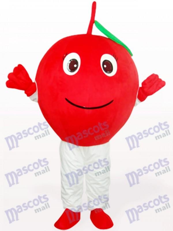 Roter Apfel mit Blatt Frucht Erwachsenen Maskottchen kostüm
