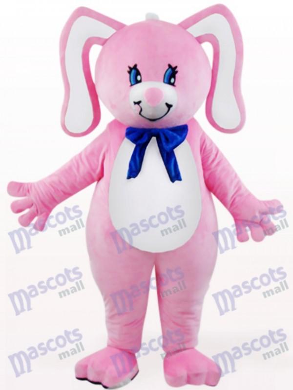 Ostern rosa Kaninchen mit floralen Ohren Tier Maskottchen Kostüm