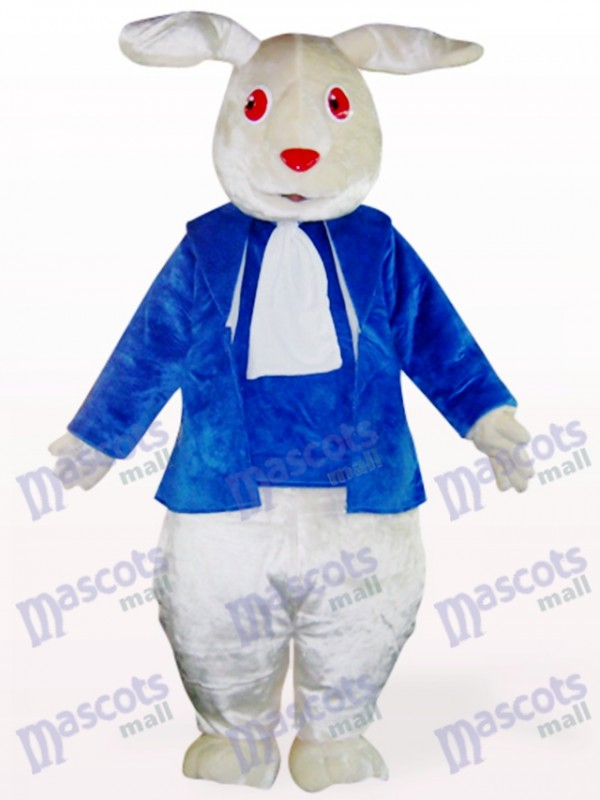 Ostern rote Augen blaue Kleidung Kaninchen Maskottchen Kostüm